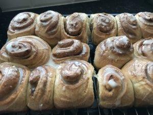Sourdough bread cinnamon rolls